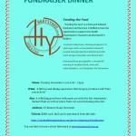 Fundraiser dinner in november OHO dinner